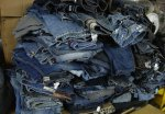 Baled Used Recycled Denim Jeans Grade A starting at $0.45