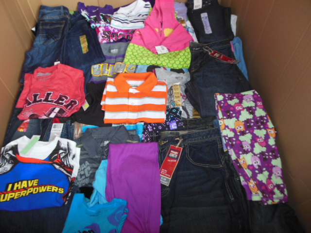 Wholesale Overstock Childrens Clothing Assorted Clothes Pallets